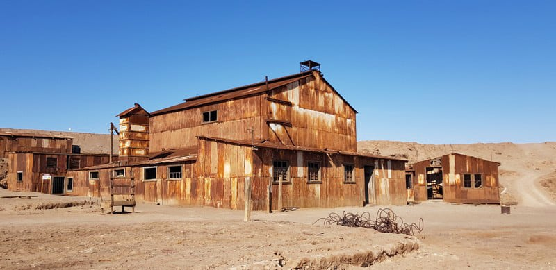 Humberstone deserted town in the atacama desert
