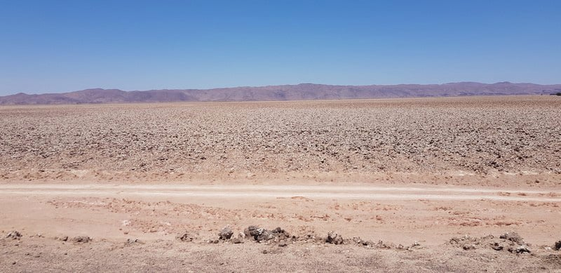Atacama Desert from Pozo Almote to Calama in Chile
