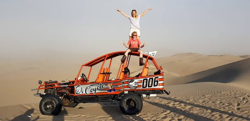 Dune buggy ride and skiing in Huacachina in Peru