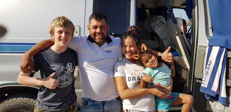 Daniels family in Paracas