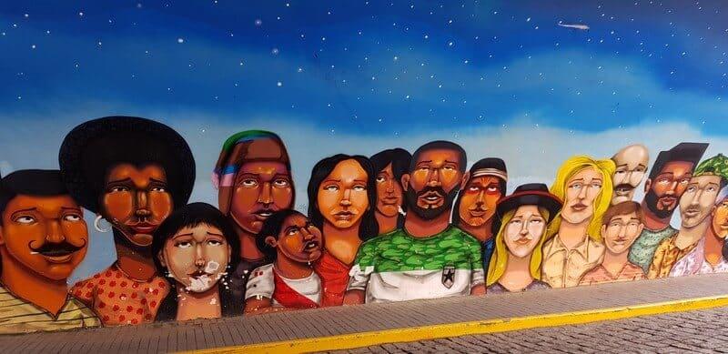 Street art murals in Barranca Lima Peru