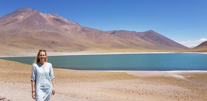 Laguna Miniques in San Pedro de Atacama