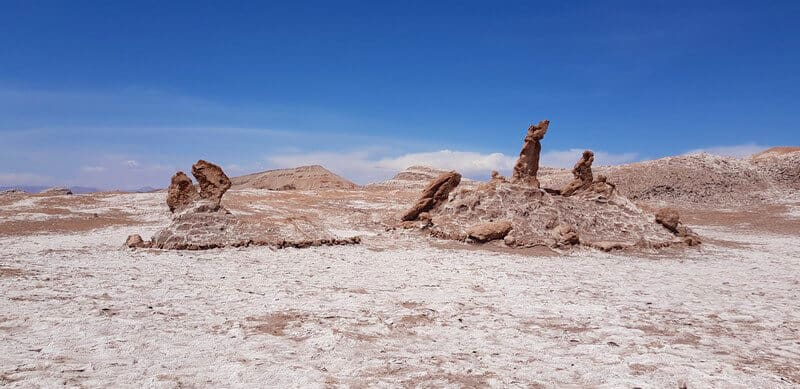 Three Marias in Valle de la Luna in San pedro de Atacama
