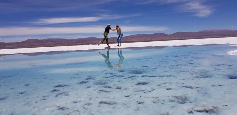 Salinas Grande salt flats in Northern Argentina