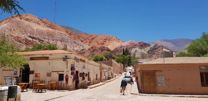 Seven Coloured Hills in Purmamarca in Norther Argentina