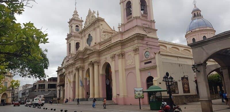 Salta Cathedral in Salta in Argentina