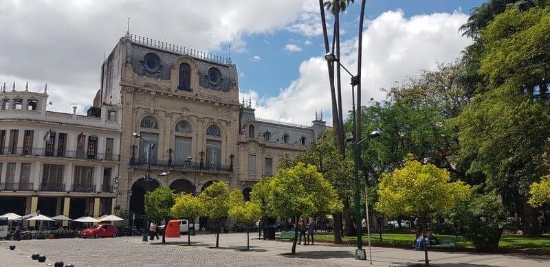 Central Plaza in Salta in Argentina