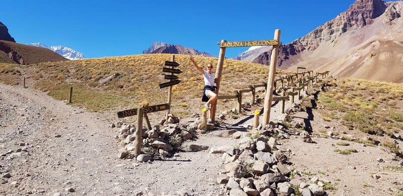 Horcunes de Laguna Hike at Mount Aconcagua