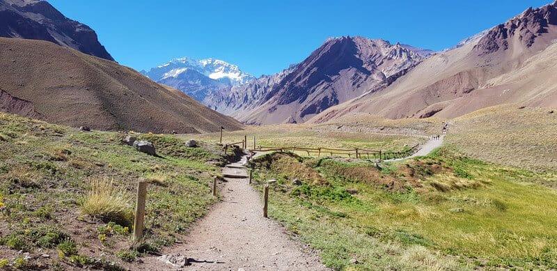 Mount Aconcagua in Mendoza, Argentina