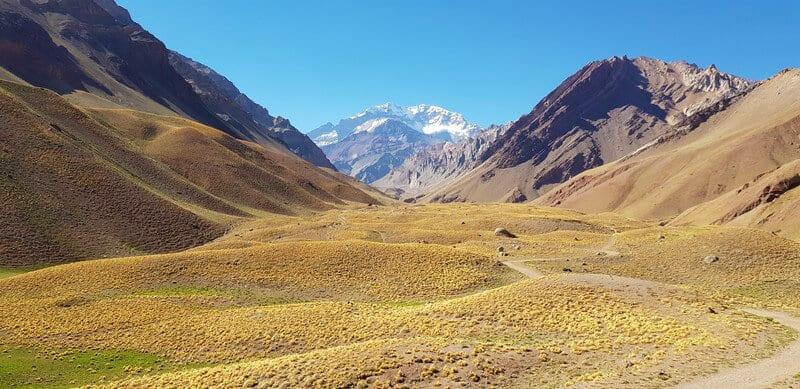 Views of Mount Aconcagua in Mendoza, Argentina