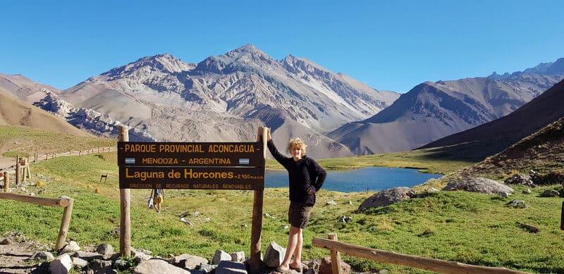 Horconas Laguna at Mount Aconcagua
