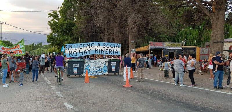 Protests in Uspallata