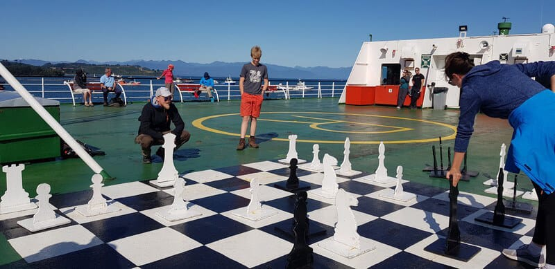 Chess on the navimag ferry